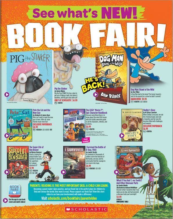 Scholastic Book Fair Flyer