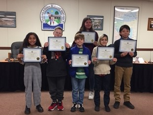 Students with certificates for high scores on SBAC