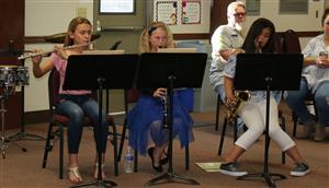 Students perform during Board Meeting